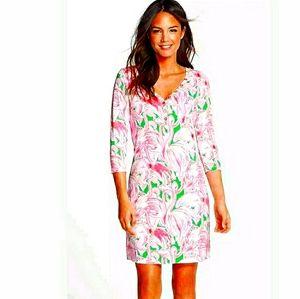 NEW LILLY PULITZER Palmetto pink flamingo dress